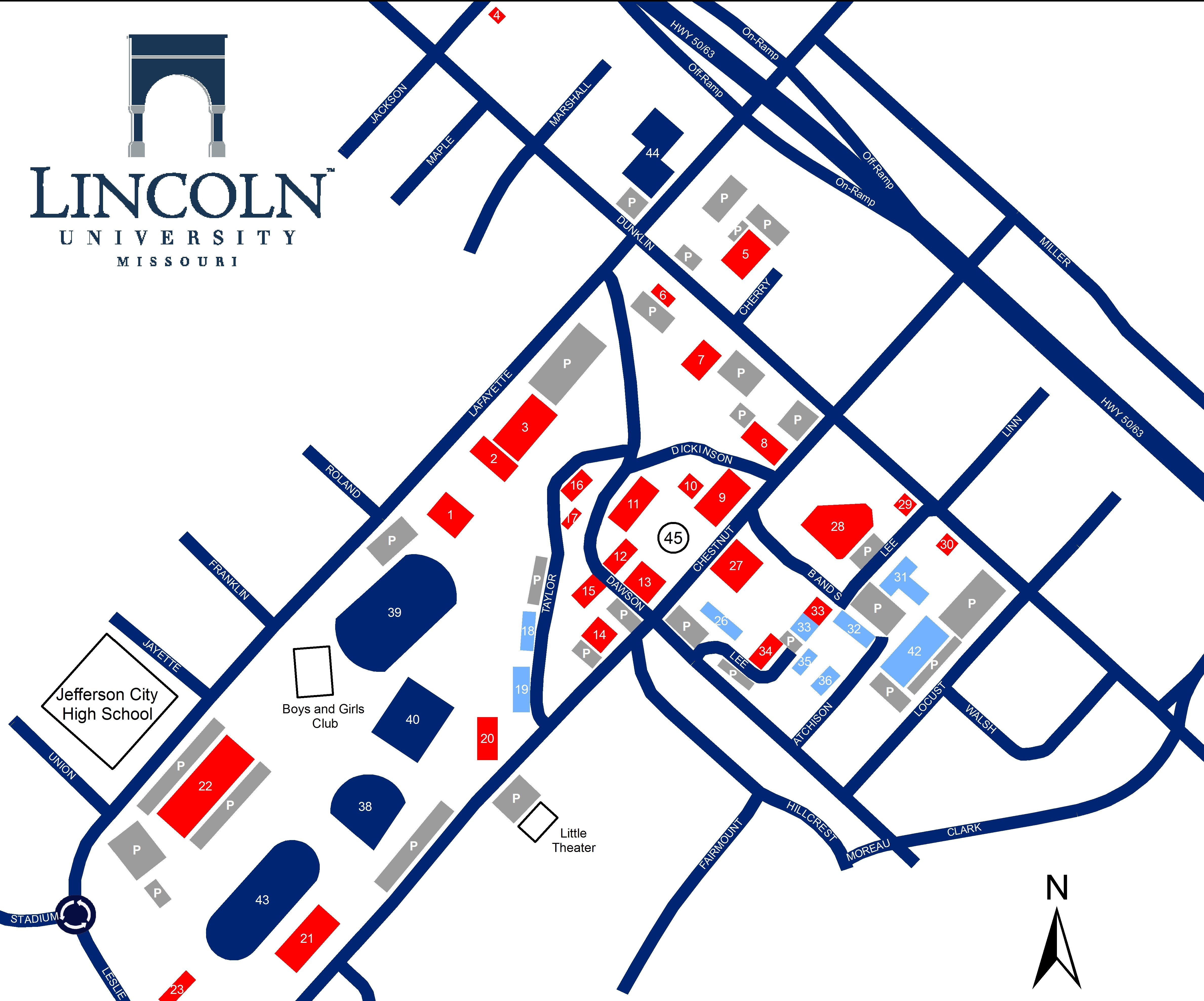 Campus Map And Directions Lincoln University